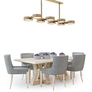现代餐桌椅模型3d模型