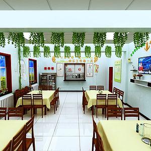 3d<font class='myIsRed'>餐廳</font>食堂飯店模型