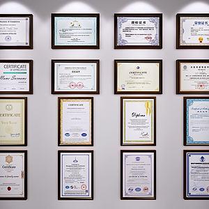 獎狀證書榮譽模型3d模型