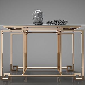 新中式裝飾臺端景臺模型3d模型