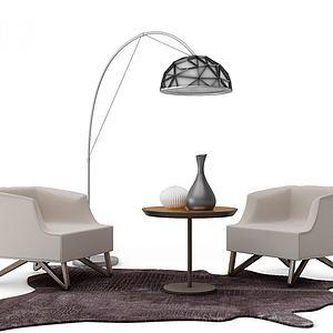 现代休闲沙发模型3d模型