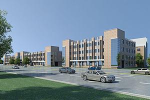 厂房办公楼模型