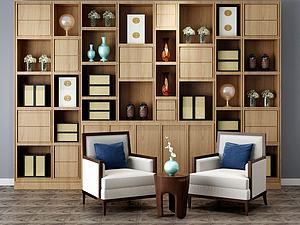 沙发茶几装饰柜模型3d模型