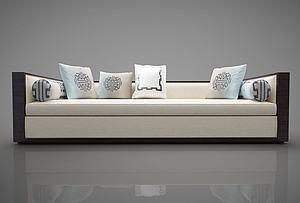 中式双人沙发模型3d模型