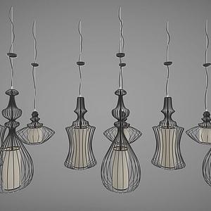 現代風格的吊燈模型3d模型