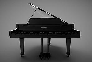 新中式风格的钢琴模型模型