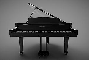 3d<font class='myIsRed'>新中式</font>風格的鋼琴模型