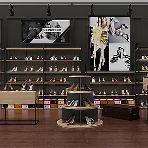 現代鞋架鞋子展柜模型3d模型
