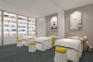 现代美容院房间模型模型