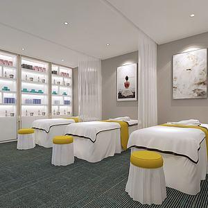 現代美容院房間3d模型