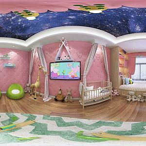 兒童玩具房3d模型