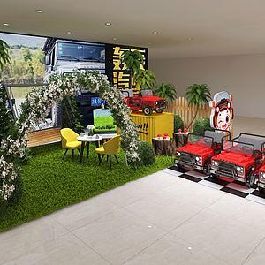 商場店鋪轟轟汽車3d模型