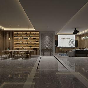 现代风格会客厅模型