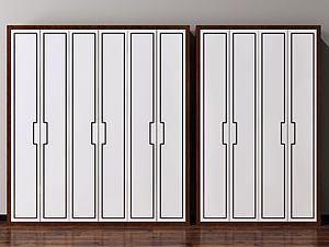 新中式實木衣柜模型3d模型