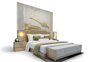 酒店现代床