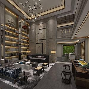 高档客厅模型