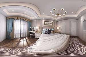 简欧卧室全景