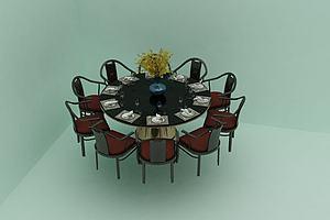 酒店餐桌餐椅组合