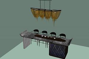 创意餐桌吧台