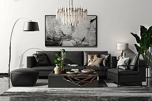 现代沙发组合家具模型模型