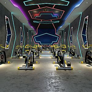 健身房动感单车模型