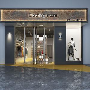 服装店门脸及室内模型