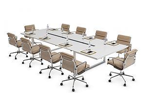 3d現代會議桌模型