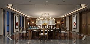 中式餐厅包间模型模型
