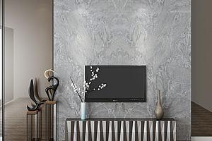 电视背景墙模型模型