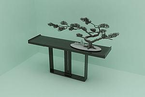 创意绿植模型模型