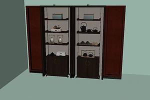 复古摆件酒柜模型模型