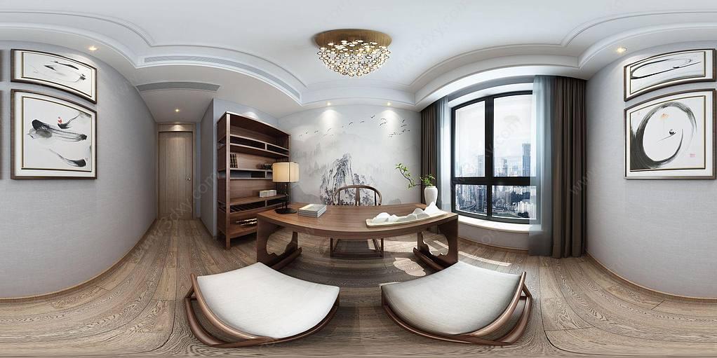 全景新中式茶室