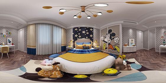 3d全景兒童房模型