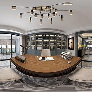 全景現代書房模型3d模型