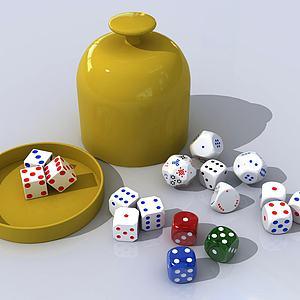 现代骰子赌具3D模型