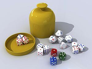 現代骰子賭具3D模型模型3d模型