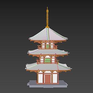 3d<font class='myIsRed'>古建筑</font>塔模型