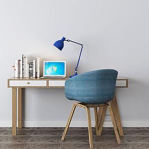 電腦桌寫字臺3d模型
