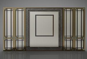 中式屏風隔斷模型3d模型