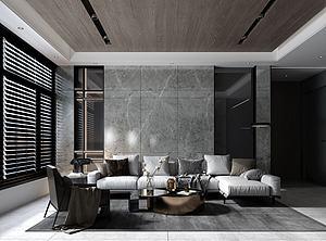 3d客廳模型
