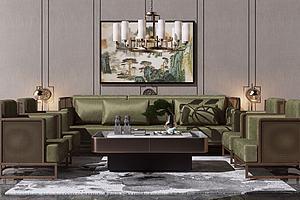 3d沙發新中式風格模型