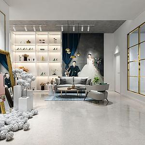 影楼婚纱店模型
