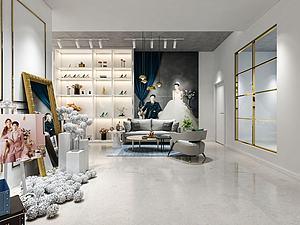 3d影樓婚紗店模型