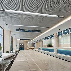 体检中心大厅医院模型