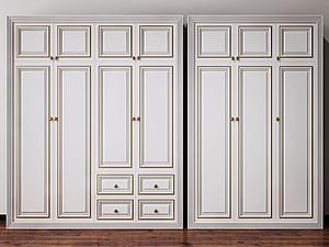 3d衣柜裝飾柜模型