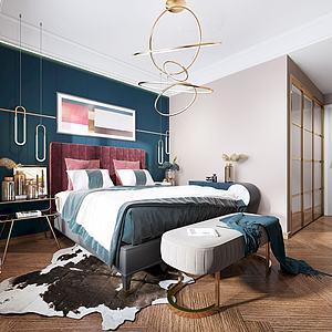 3d現代臥室模型