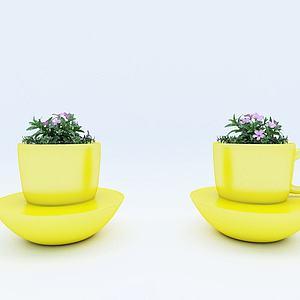花壇茶杯座椅3d模型