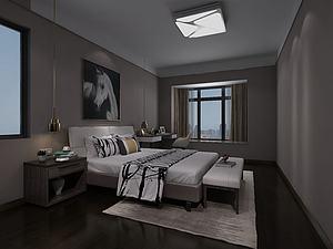 卧室3d模型模型3d模型