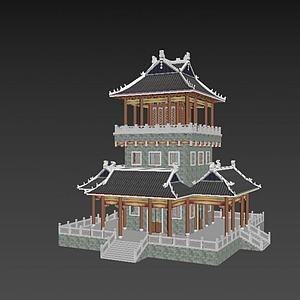 3d塔亭子模型