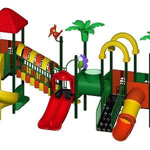 兒童游樂設施3d模型